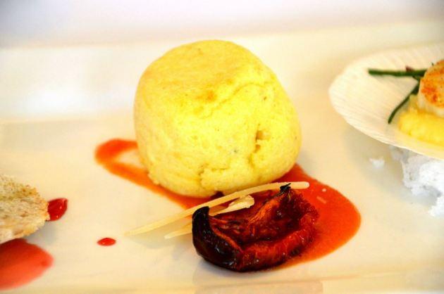 Twice Cooked Polenta Souffle