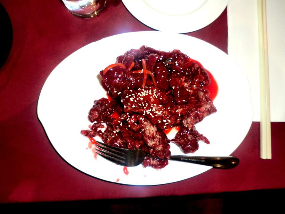 Crispy Beef in Plum Sauce