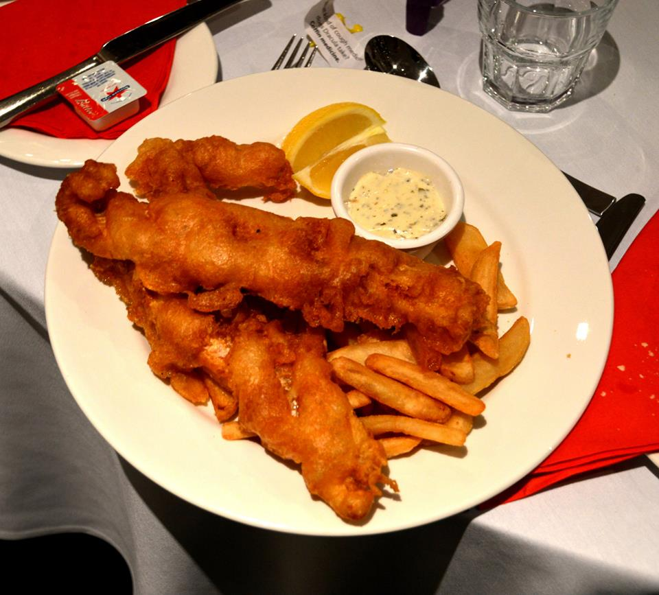Battered Flathead and Chips