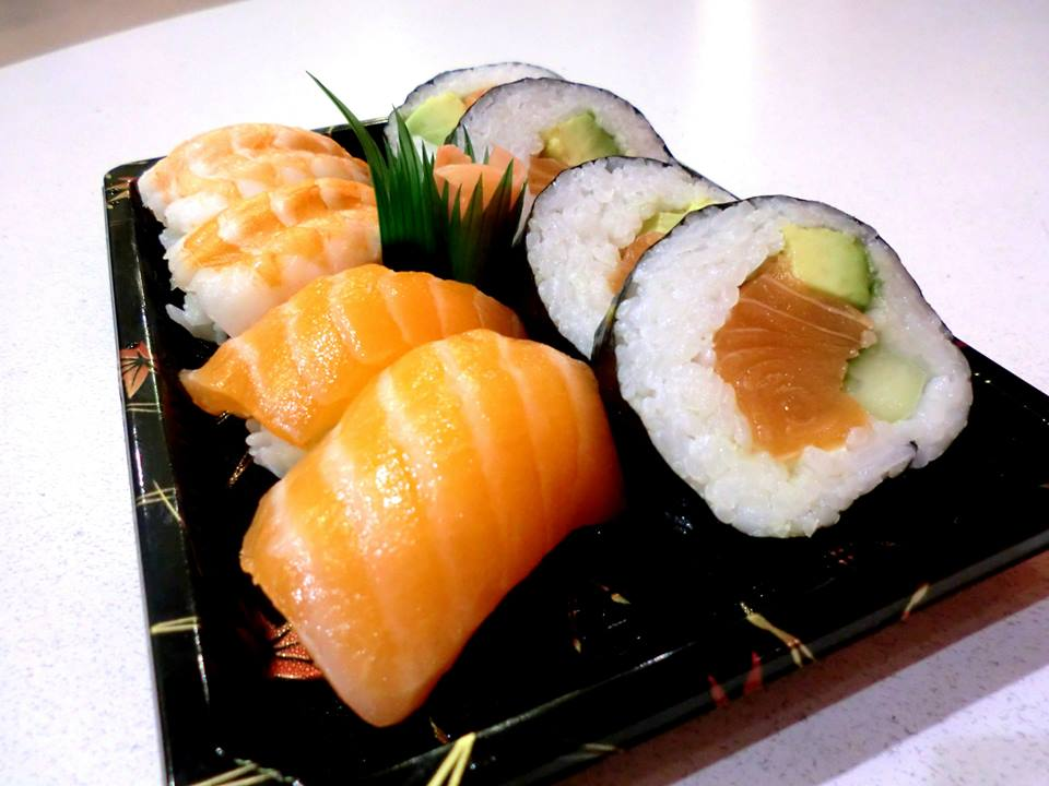 Salmon and Prawn Sushi