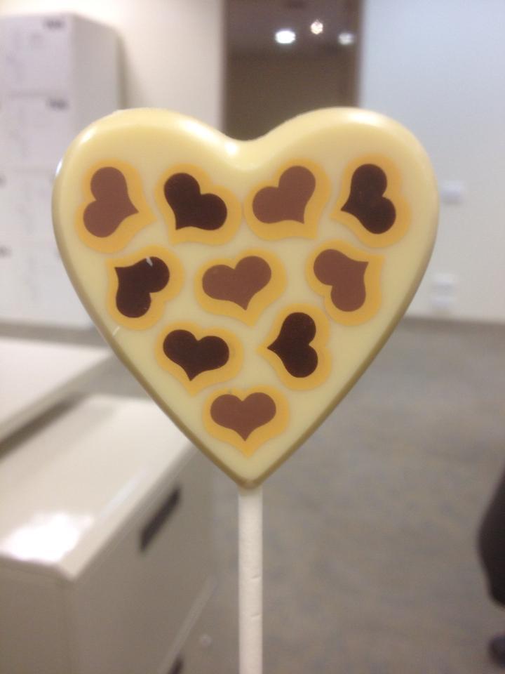 White Chocolate Heart Lollipop