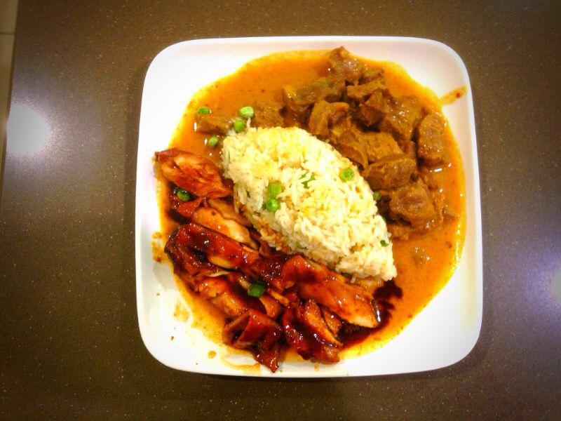 Teriyaki Chicken and Massaman Beef