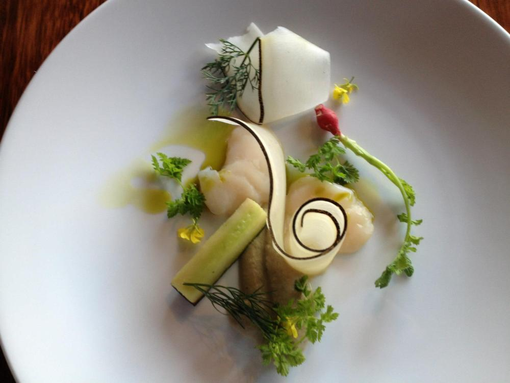 Scallops, Fennel and Radish