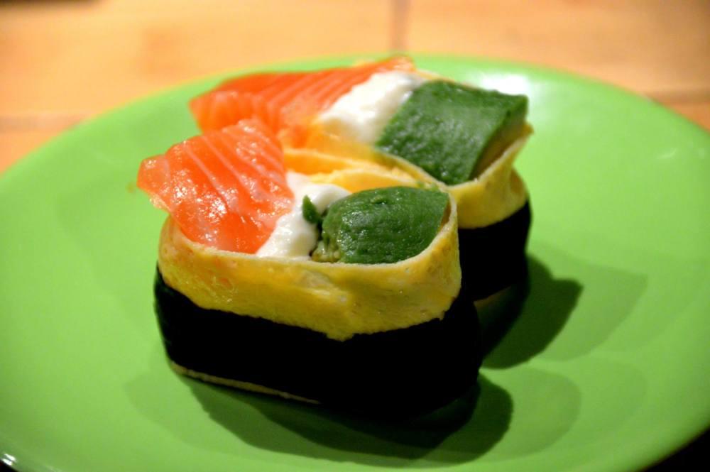 Salmon and Avocado Egg Roll