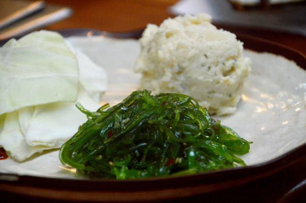 Marinated Seaweed, Potato Salad