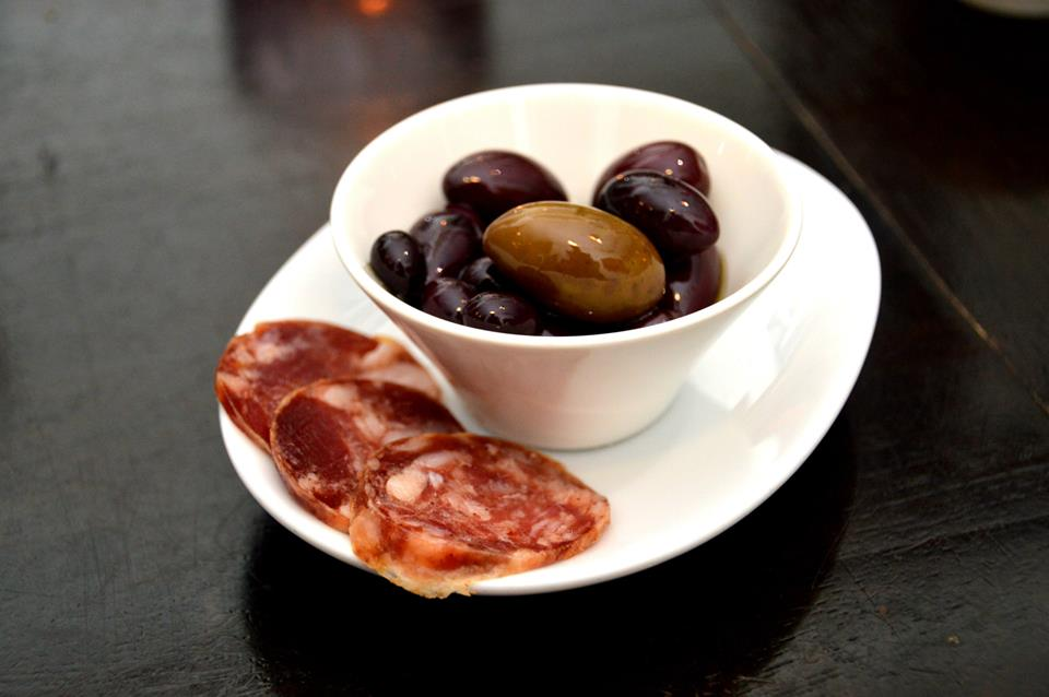 Olives and Salami
