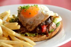 Open Steak Sandwich