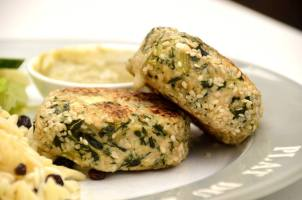 Chicken, Spinach and Feta Patties