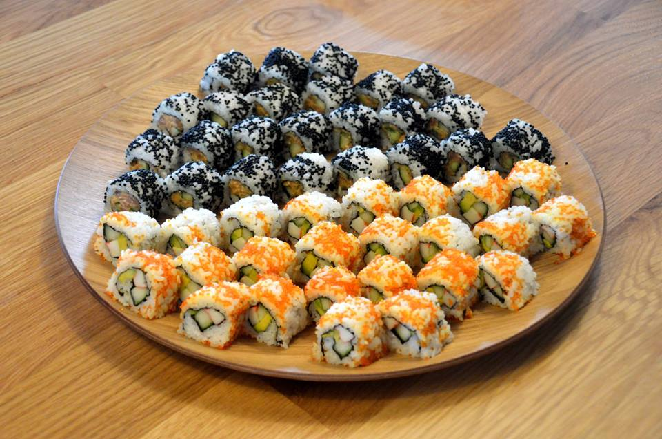 Crispy Shrimp Rolls, California Rolls