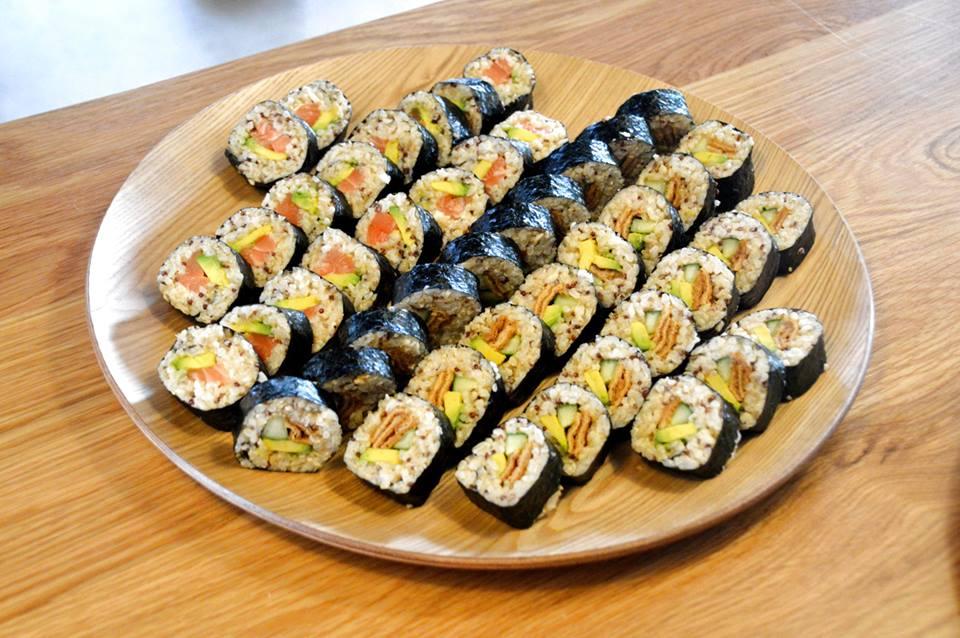 Salmon Quinoa Roll, Tuna Quinoa Roll, Veggie Quinoa Roll