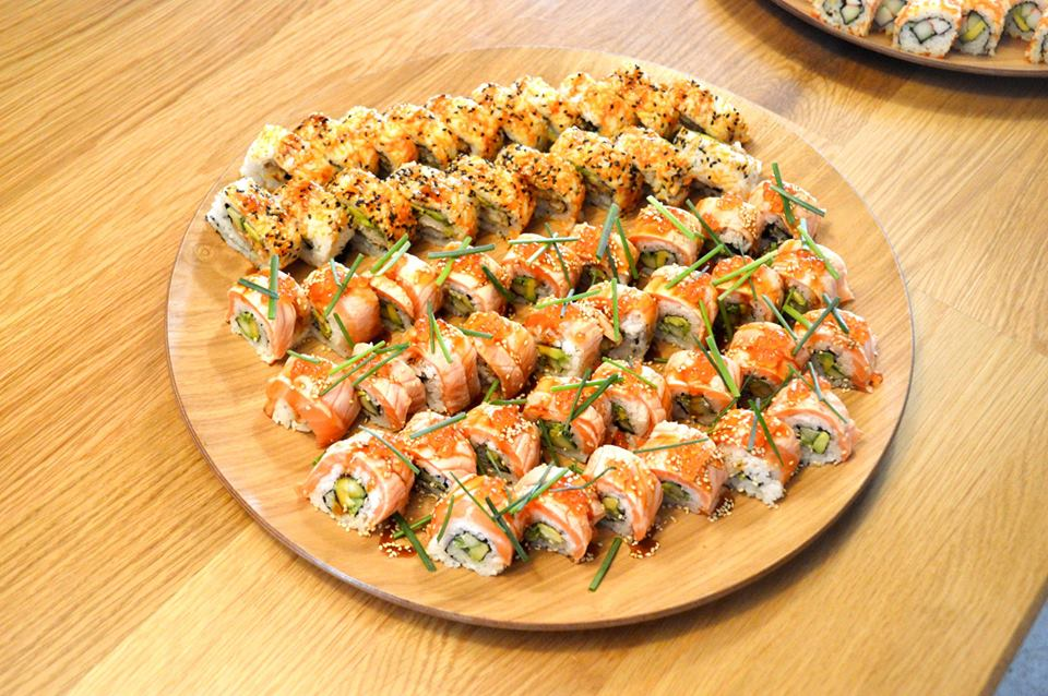 Aburi Salmon Roll, Soft Shell Crab Roll