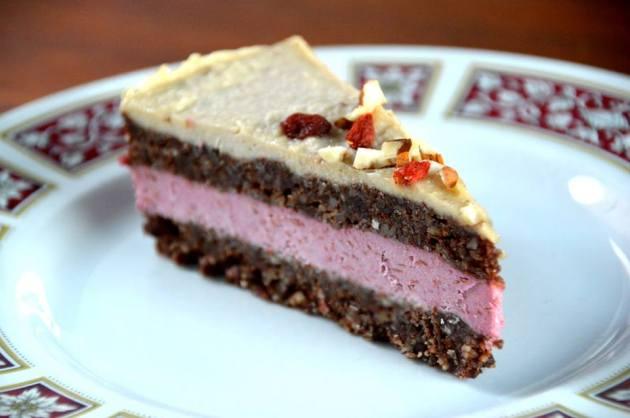 Raspberry Choc Raw Cake