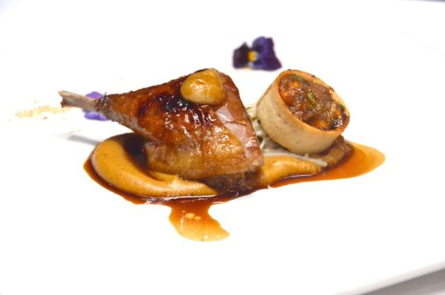 Lacquered and Confit Duck Leg
