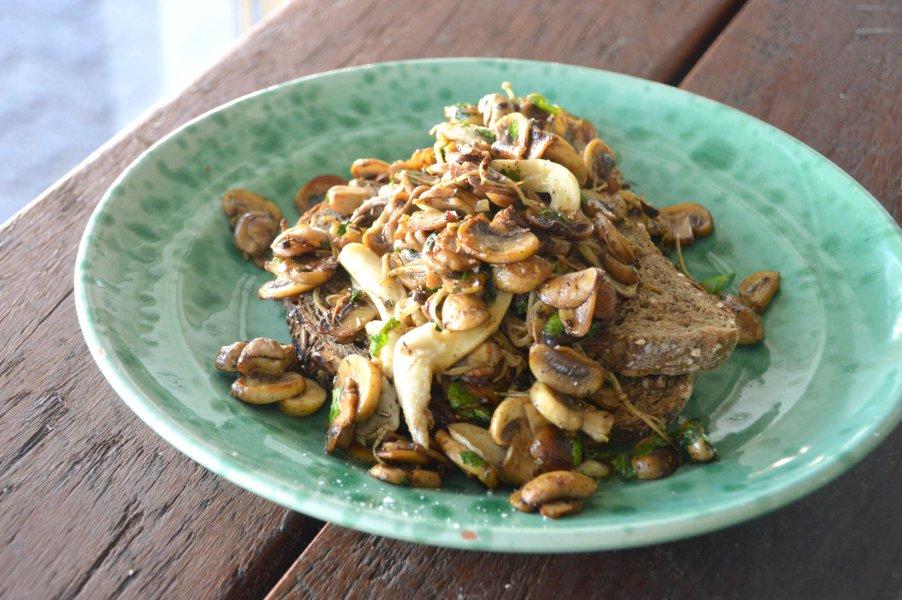 Herb Mushroom Toast
