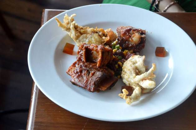 BBQ Beef Short Rib and Spiced Soft Shell Crab