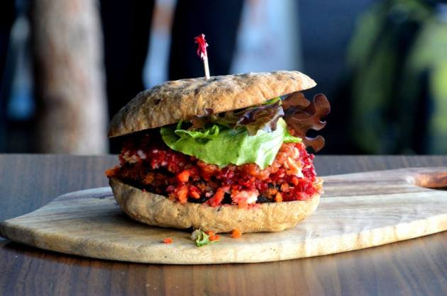 Sweet Potato and Chickpea Burger