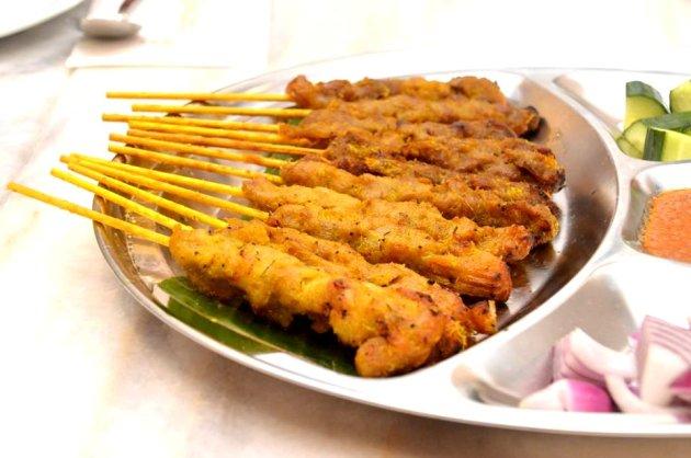 Satay Chicken and Satay Beef