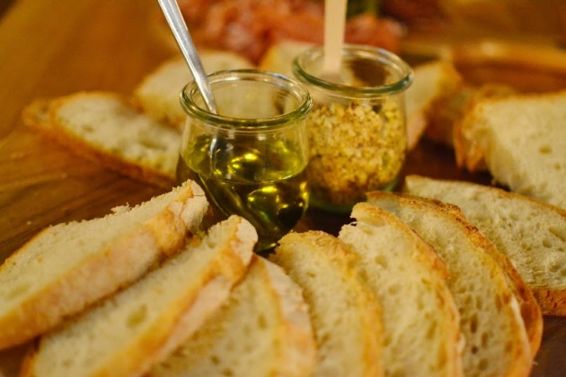 Sourdough Bread with Extra Virgin Olive Oil and Dukkah