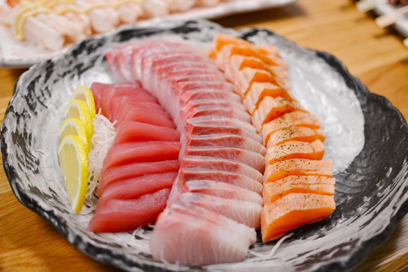Tuna, Kingfish and Salmon Sashimi