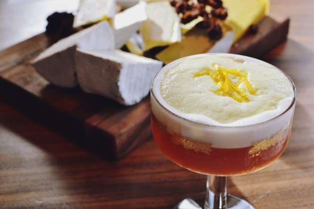 Plymouth sloe gin, fresh pressed lemon, dash of egg white served straight up with a marmalade foam