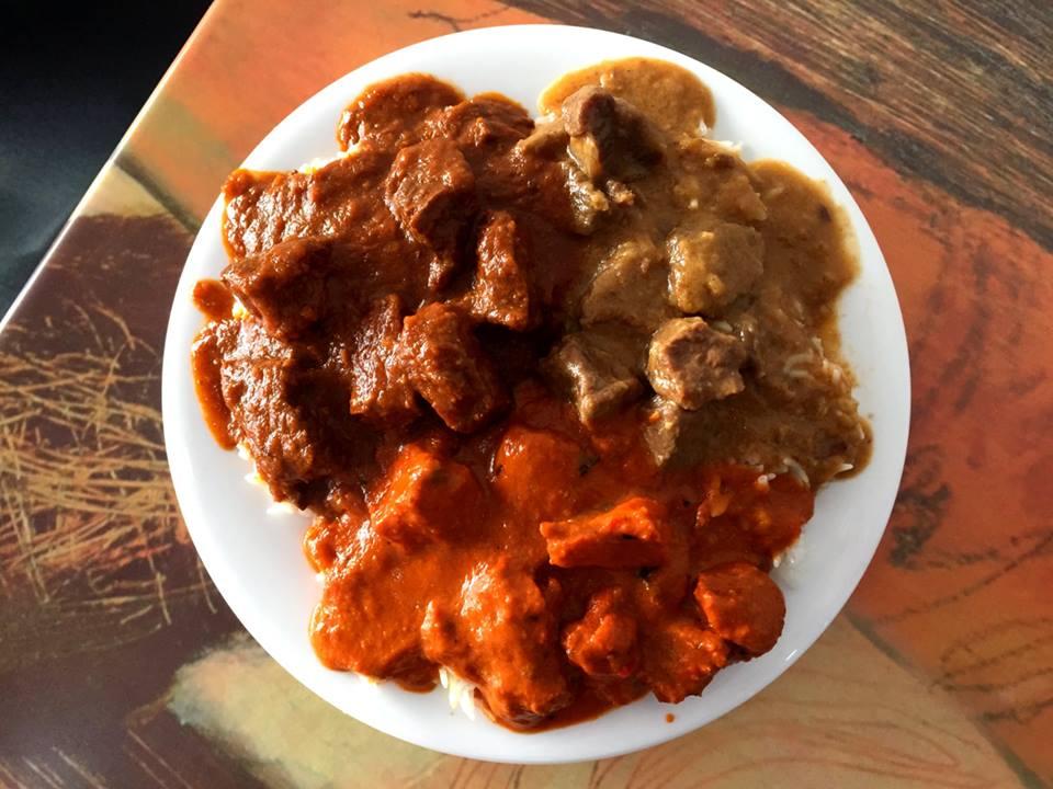 Beef Vindalo, Lamb Korma, Butter Chicken