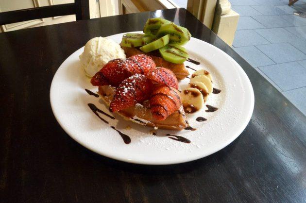 Fruit Belgium Waffle