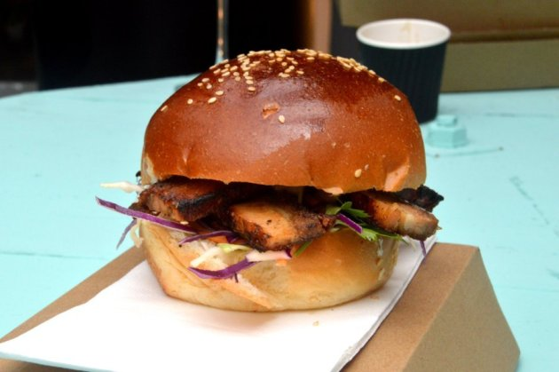 Crispy Pork Belly Burger