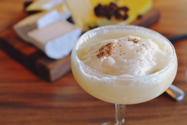 Dulce Vida reposado tequila, hint of mescal, Tea2 nougat tea syrup, and bitters served up in a coupet