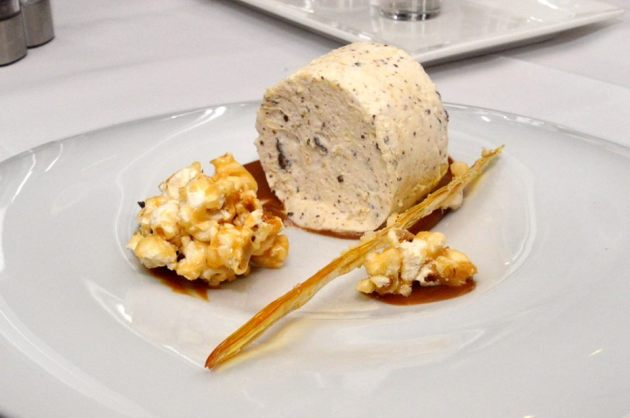 Macadamia, Chocolate and Honey Nougat Parfait