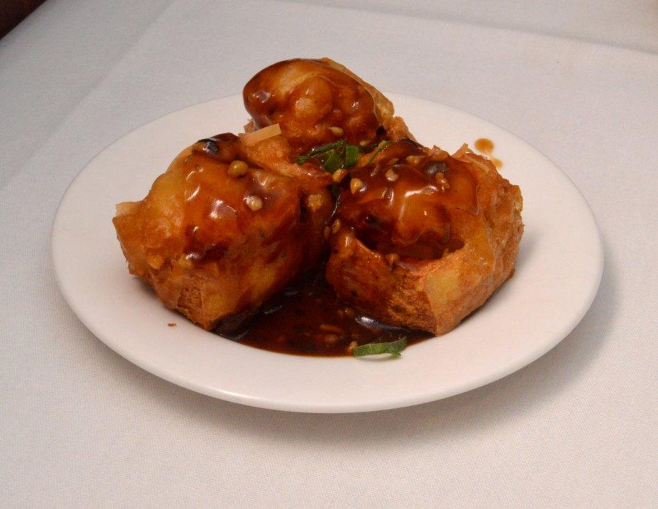 Deep Fried Prawn and Tofu