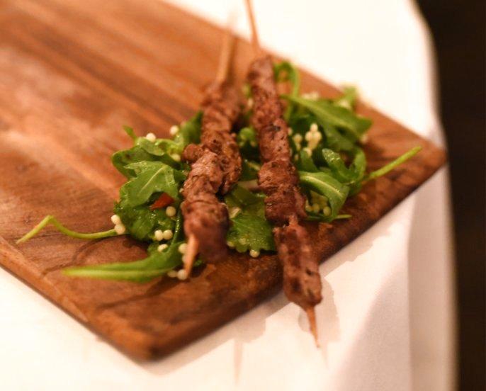 Lamb Arrosticini with Fregola Salad