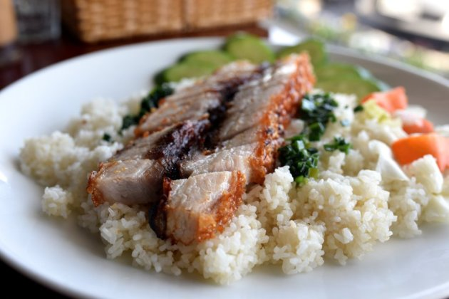 Roast Pork Broken Rice