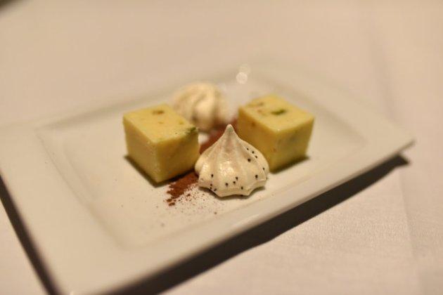 White Chocolate Macadamia Fudge and Meringue