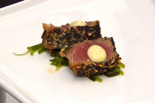 Miso and Sesame Encrusted Yellow Fin Tuna