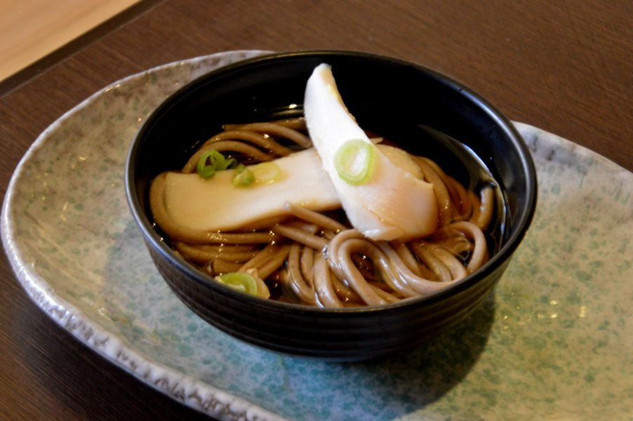 Cold Soba Noodles with Chicken Ham