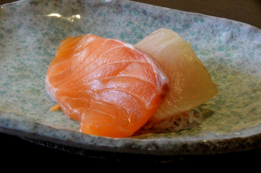 Kingfish and Salmon Sashimi