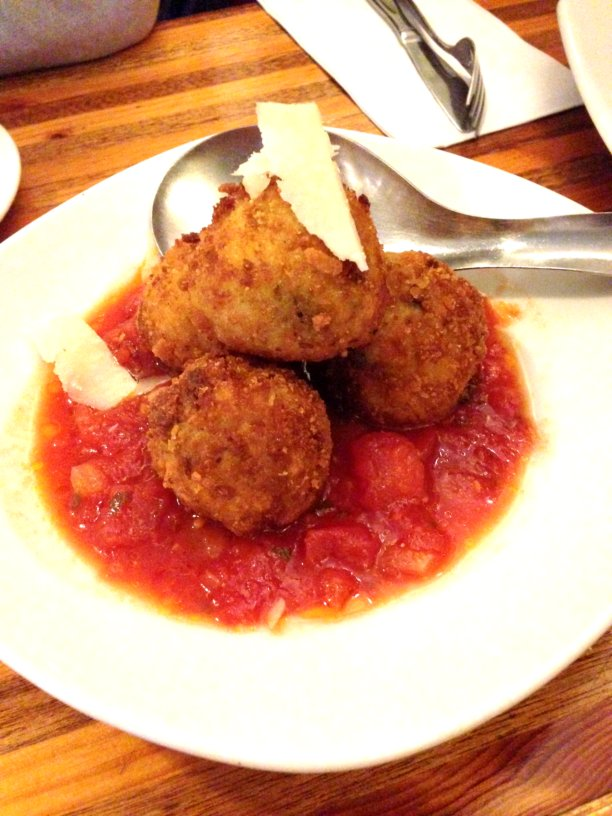 Pea, Mozzarella and Saffron Arancini Balls