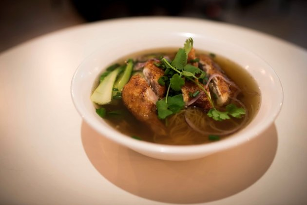 Crispy Chicken Mee Noodle Soup