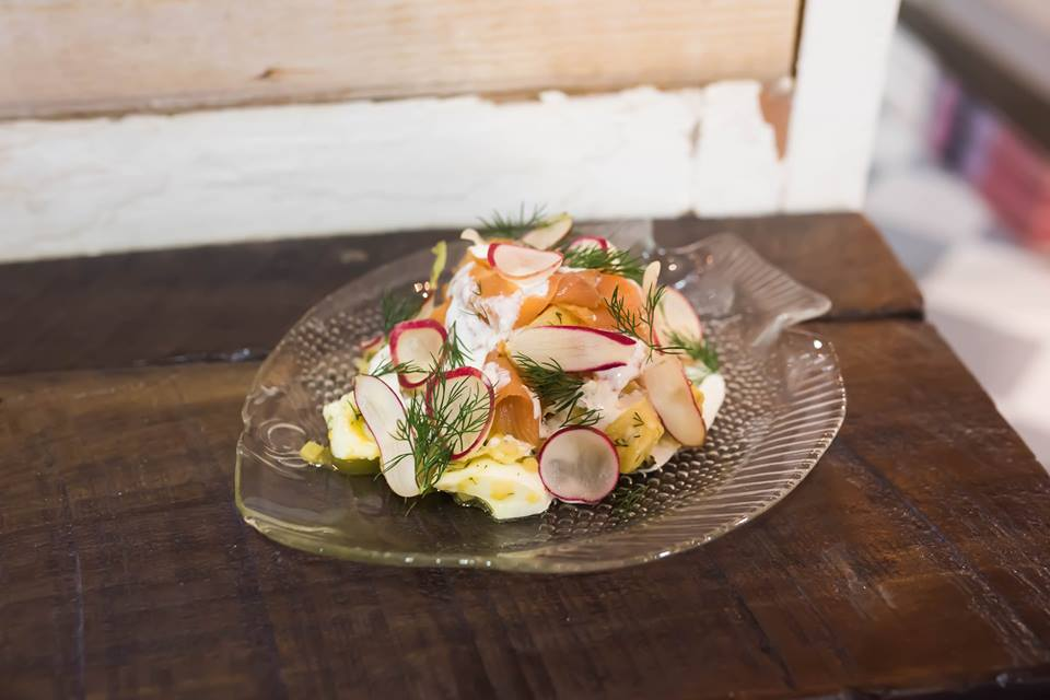For Lunch I Had Scandinavian Smoked Salmon And Potato Salad This Dish Is Something Id Expect To Eat In A Scandinavian Country And Was Very Delicious